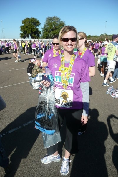 Smiles at the finish of the 2009 Disney Half Marathon!